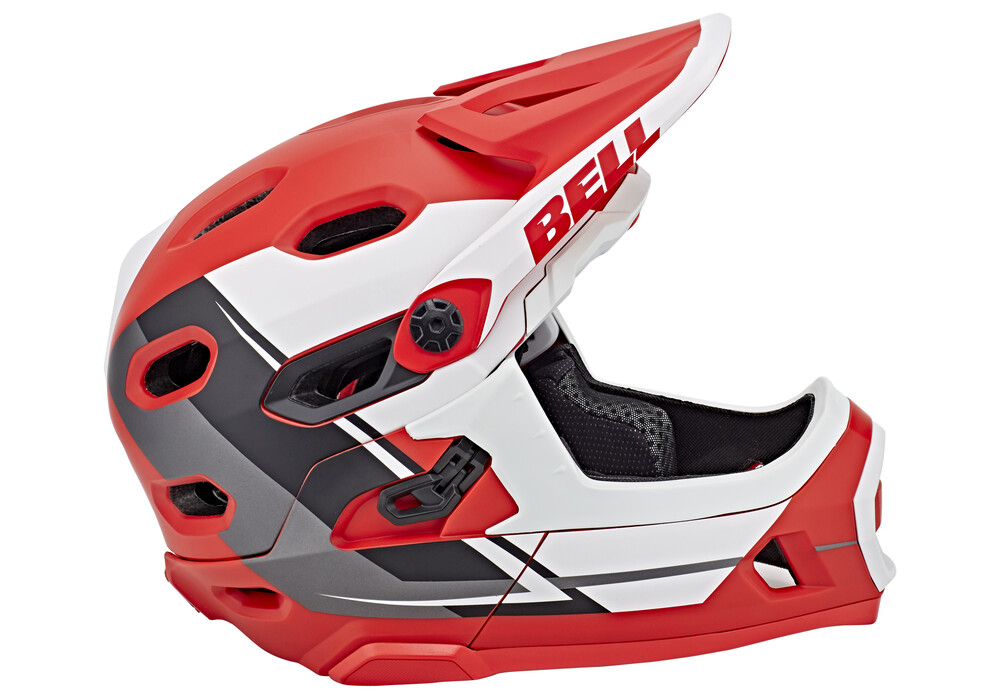 bell super dh mips mtb helmet red white black online kaufen. Black Bedroom Furniture Sets. Home Design Ideas